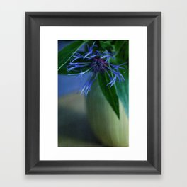 blue & still Framed Art Print