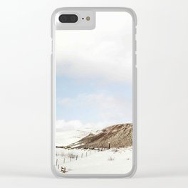 Lonely mountain Clear iPhone Case