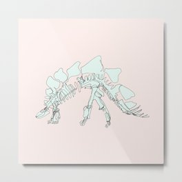 Pastel Stegasaurus Metal Print