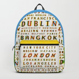 Travel World Cities Backpack