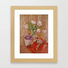 White tulips_2 Framed Art Print