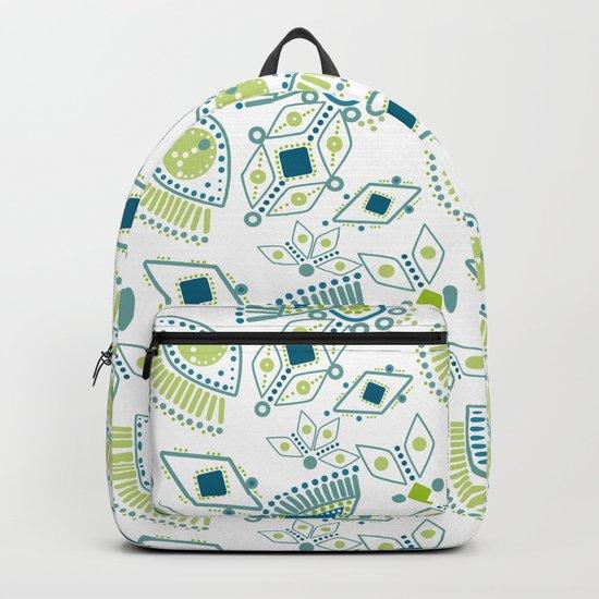 Ethnic pattern . Eye 2 . Backpack