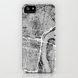 Philadelphia Pennsylvania Street Map iPhone Case