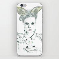 cara delevingne iPhone & iPod Skins featuring Cara Delevingne by Simona Borstnar