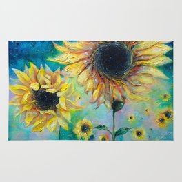 Supermassive Sunflowers Rug