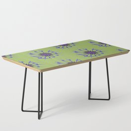 Thin blue flames in a sea of green Coffee Table