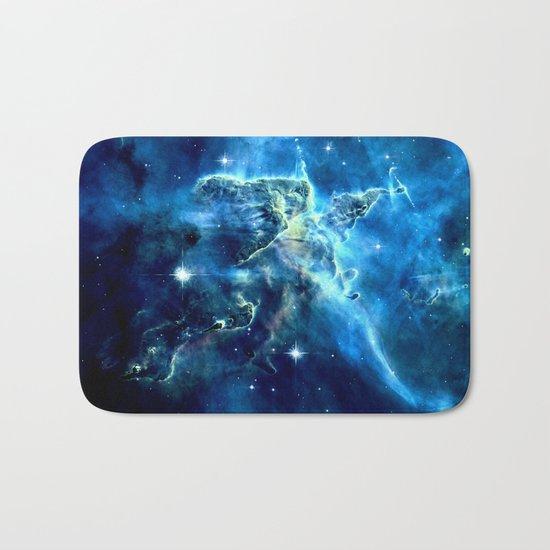 GALAxY Mystic Mountain Blue Bath Mat