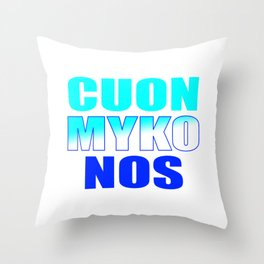 CUON MYKONOS Throw Pillow