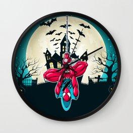 Spider in Halloween Wall Clock