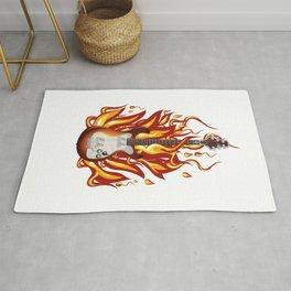 Fire guitar. Rug