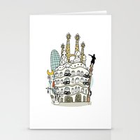 barcelona Stationery Cards featuring Barcelona by Jaume Tenes