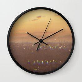 Sunset Haze Wall Clock