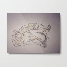 faceless beauty Metal Print