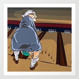 Granny Shot Art Print