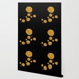 """Golden dots & black background"" Wallpaper"