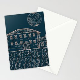 Italian Vintage Night - Countryside Landscape Stationery Cards