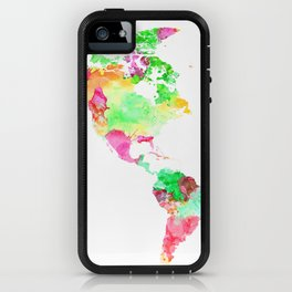 World Map Watercolor #1 iPhone Case