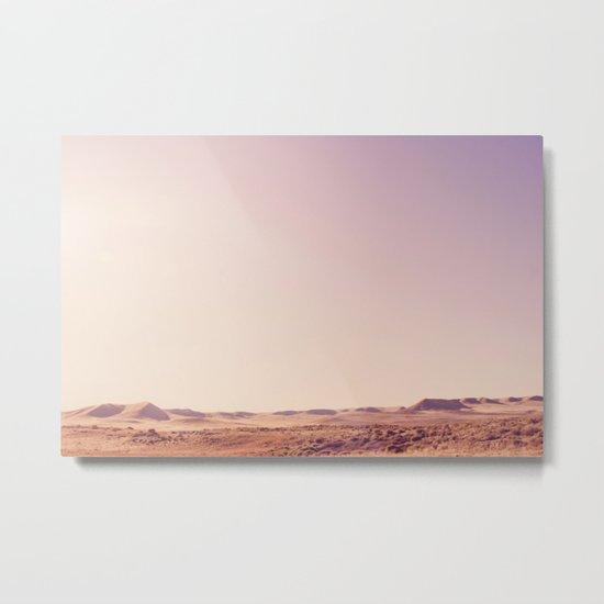 Desert Sand Dune Landscape Metal Print
