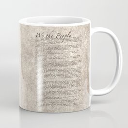 US Constitution - United States Bill of Rights Coffee Mug