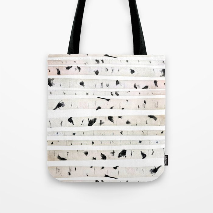 birch watercolor pattern 2018 Tote Bag