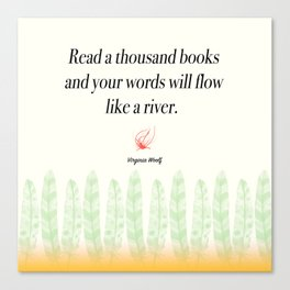 Virginia Woolf Book Quote Canvas Print
