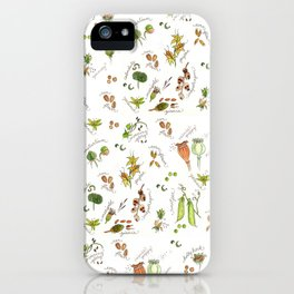 flower's seeds and seedpods iPhone Case