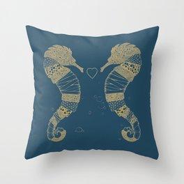 <3 of seahorses Throw Pillow