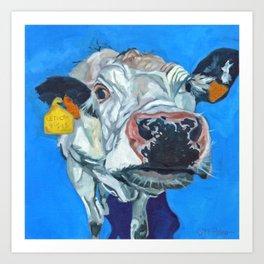 Leticia the Cow Art Print