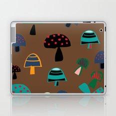 Cute Mushroom Brown Laptop & iPad Skin