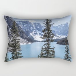 Landscape Lake Moraine Crystal Blue Waters Rectangular Pillow