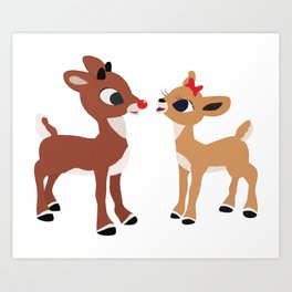 Classic Rudolph and Clarice Art Print