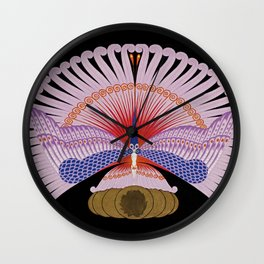 "Art Deco Design ""Phoenix Triumphant"" by Erté Wall Clock"