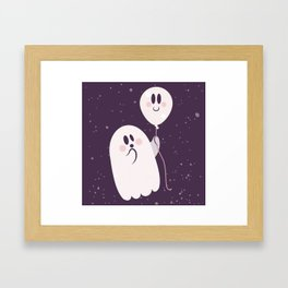 Pink Ghost and Friend Framed Art Print