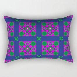 Disco Preppy Tiles Rectangular Pillow