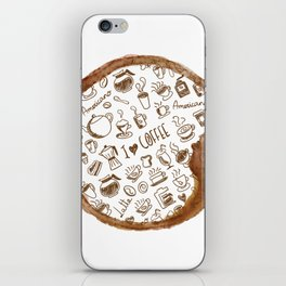 Inside an imprint of Coffee - I love Coffee iPhone Skin