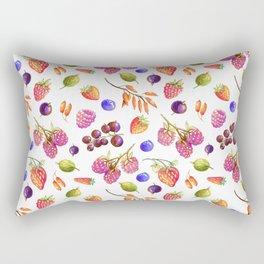 hand drawn oil berries Rectangular Pillow