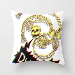 Skeleton Bro 3D Throw Pillow