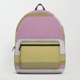 Pink olive striped Backpack