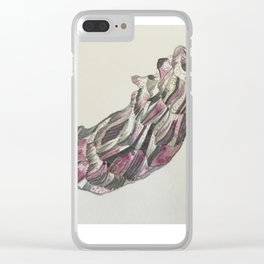 Purple Oyster Clear iPhone Case