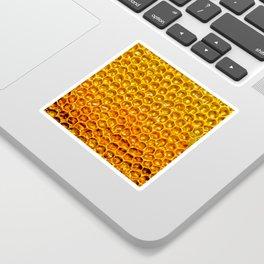 Yellow honey bees comb Sticker