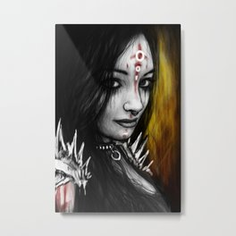 And Hell Followed Metal Print