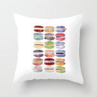 macaron Throw Pillows featuring Macaron by Marta Li