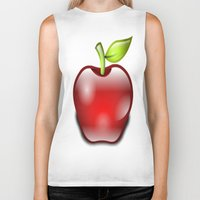 apple Biker Tanks featuring APPLE by Acus