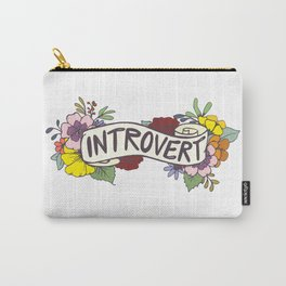 Floral Introvert Banner Carry-All Pouch