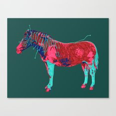 Electric Quagga Canvas Print