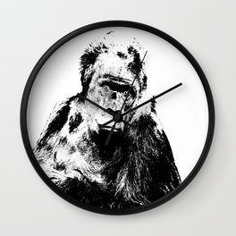 Gorilla In A Pensive Mood Portrait #decor #society6 Wall Clock