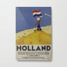 Holland Vintage Travel Poster Metal Print
