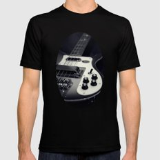 Rickenbacker Bass [B&W] LARGE Black Mens Fitted Tee