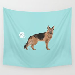 german shepherd funny farting dog breed gifts Wall Tapestry