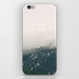 Go Explore Your World iPhone Skin